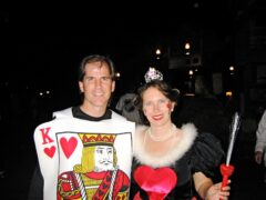 Brian and Karen Allen as the King and Queen of Heart at Walt Disney World's Mickey's Not-So-Scary Halloween