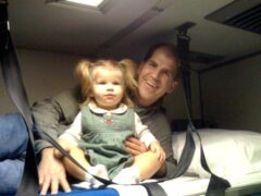 Top Bunk of Amtrak Room