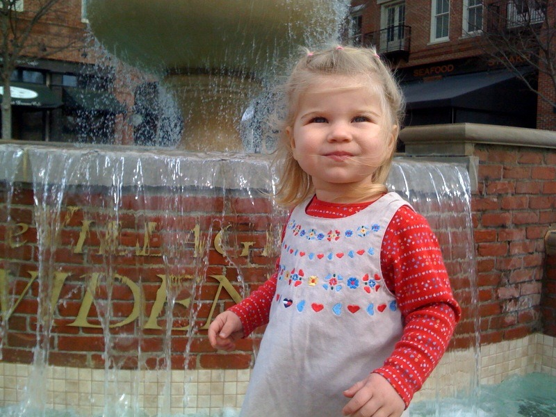 Playing at the Fountain