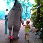 Eeyore Hanging Out With Katie Beth