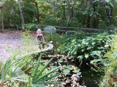 Katie Beth in the garden around Anniston Museum of Natural History