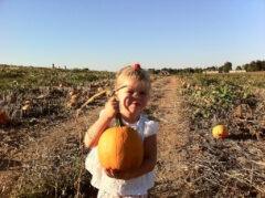 Katie Beth and Her Pumpkin