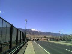Pikes Peak from Colorado Ave Bridge