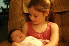 Hannah Jones holding Katherine Elizabeth