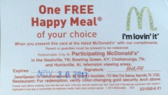 Free Happy Meal