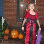 Katie Beth as Vampire Devil for Halloween