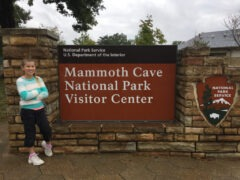 Katie Beth at Mammoth Cave National Park
