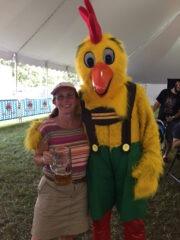 Karen and Chicken at Oktoberfest