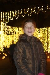 Katie Beth and Waterfall of Lights