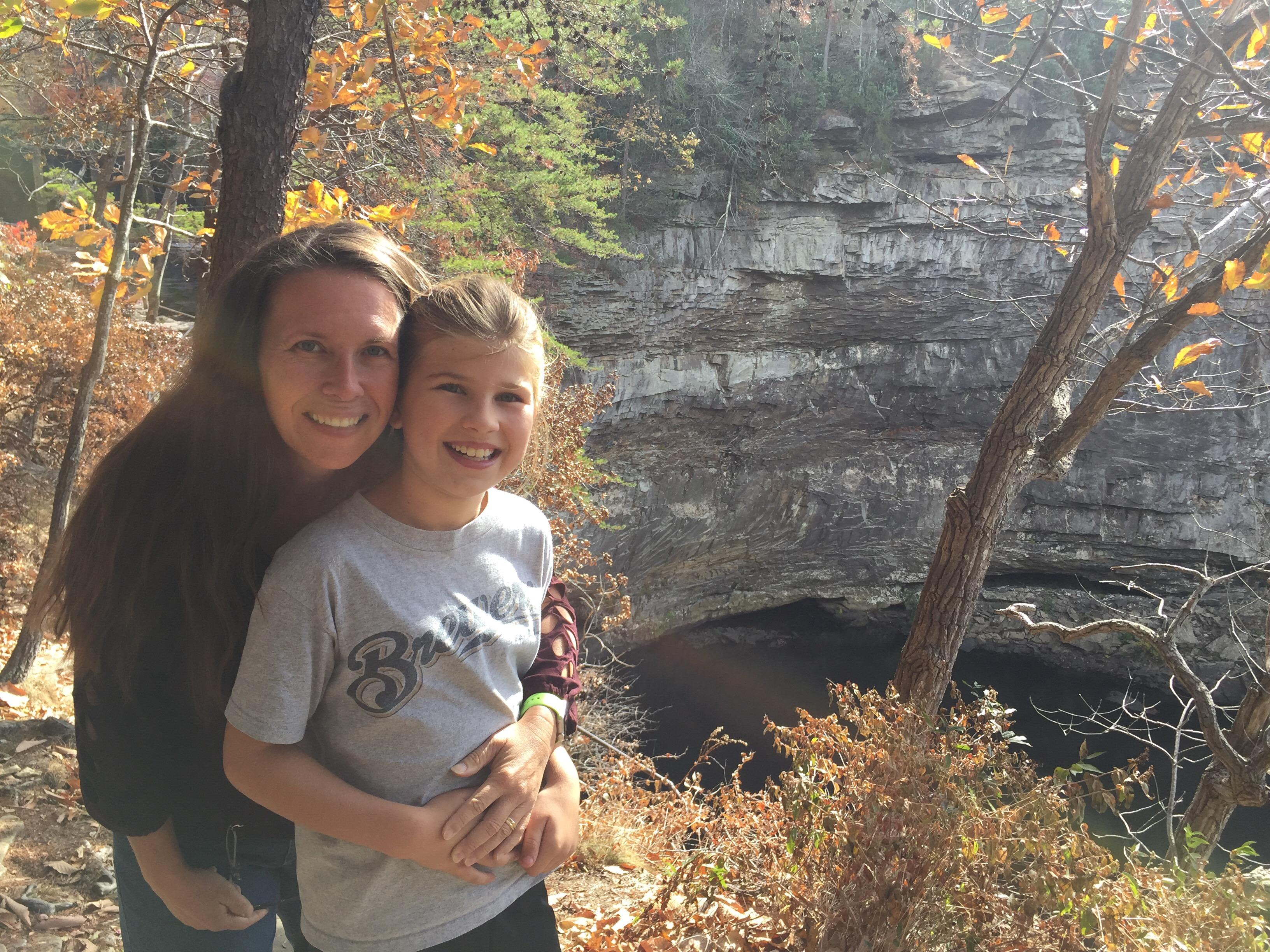 Desote Falls Overlook with Karen and Katie Beth