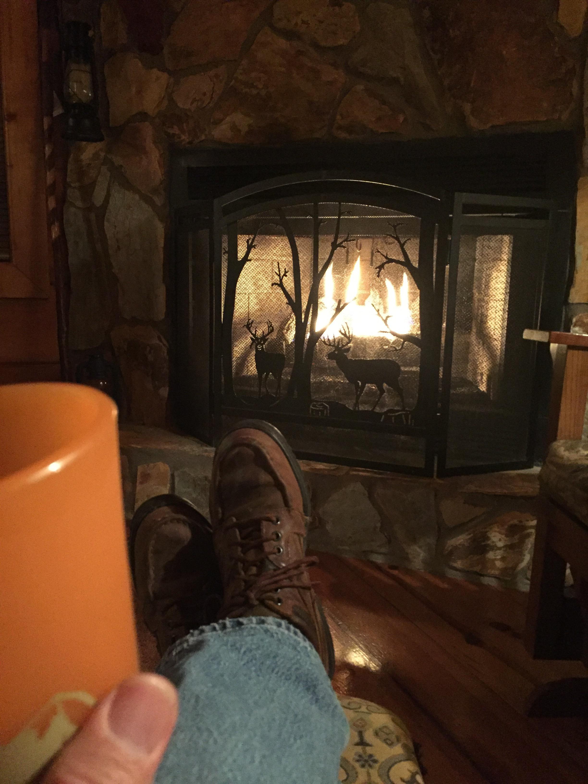 Cabin Fire place in Blue Ridge, Georgia