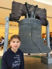 Lego Liberty Bell and Katie Beth Allen