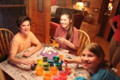 Dying Easter Eggs with Cousins