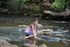 Katie Beth in Chattahoochee River