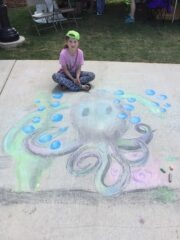 Octopus Chalk Art at Panoply 2017